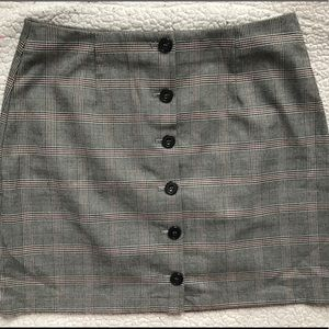 Forever 21 plaid button up skirt